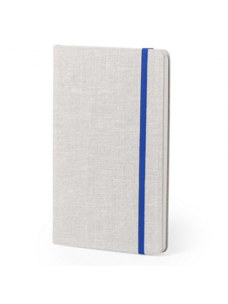 Block notes cm 13,5x21x2 con copertina rigida soft-touch ed elastico colorato