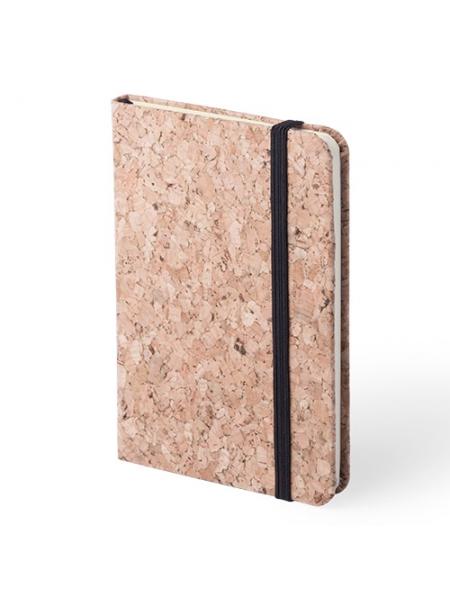 Block notes ecologici in sughero cm 8,9x14x1,4 con elastico