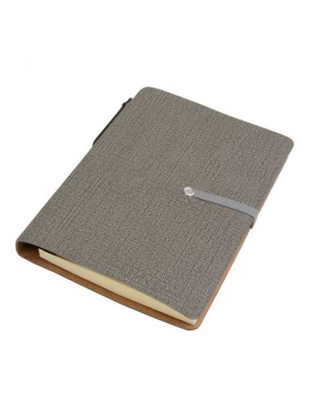 Block notes cm 10x14,5x1,2 con penna in cartone e foglietti adesivi