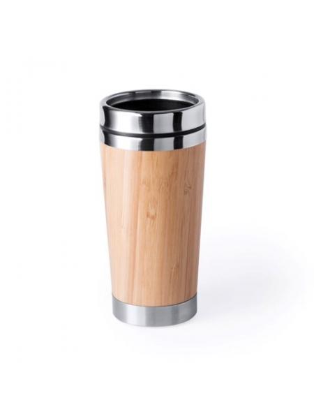 Bicchiere Style in acciaio e bambù