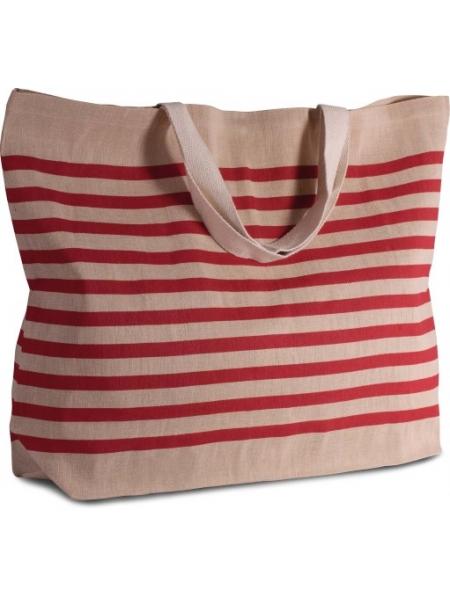 Shopper Borse Ki-Mood in juta 280 gr e cotone manici lunghi - 72x48x15 cm
