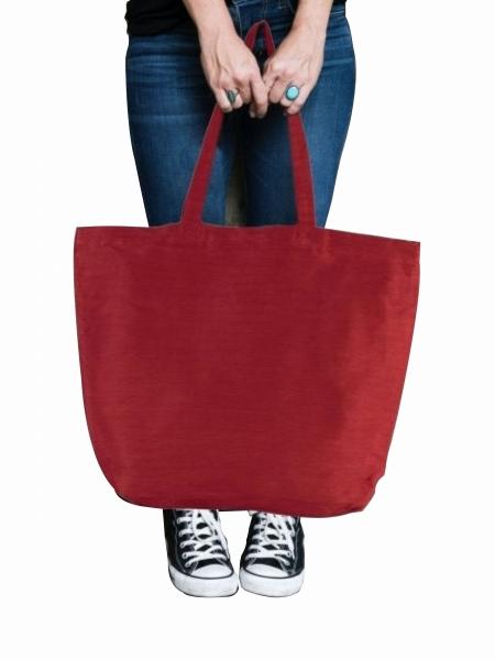 Shopper Borse Ki-Mood in juta 300 gr e cotone manici lunghi - 54x38x17 cm