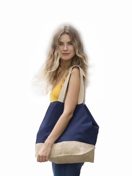 Shopper Borse Ki-Mood in cotone 310 gr manici lunghi - 53x40x15 cm